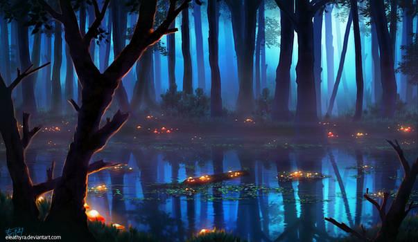 Glowing Wetlands