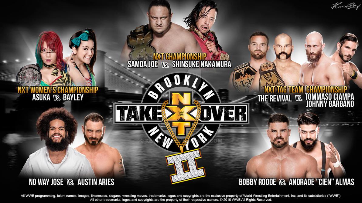 WWE NXT TakeOver Brooklyn II MatchCard Wallpaper By KevStif