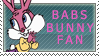 Babs Bunny Fan Stamp by Tiny-Toons-Fan