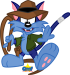 Furrball as Pasadena Jones by Tiny-Toons-Fan