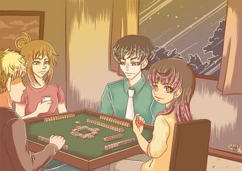 Mahjong time by Iaikaa