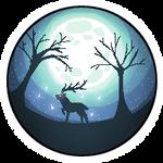 Moonlight Deer - 200x200 Pixelart