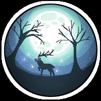 Moonlight Deer - 200x200 Pixelart by FluffZee