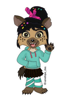 Hyenellope - Vanellope von Schweetz hyena version