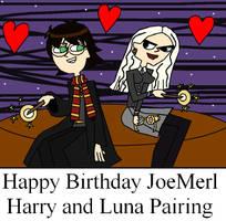 Happy Birthday JoeMerl Harry and Luna Pairing