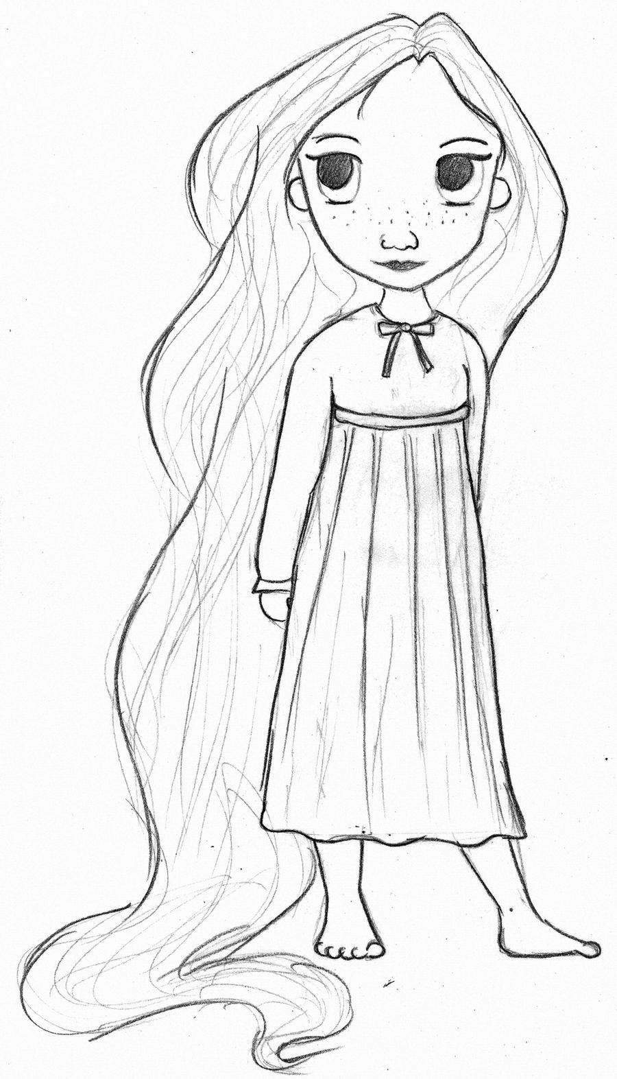 Little Rapunzel Drawing