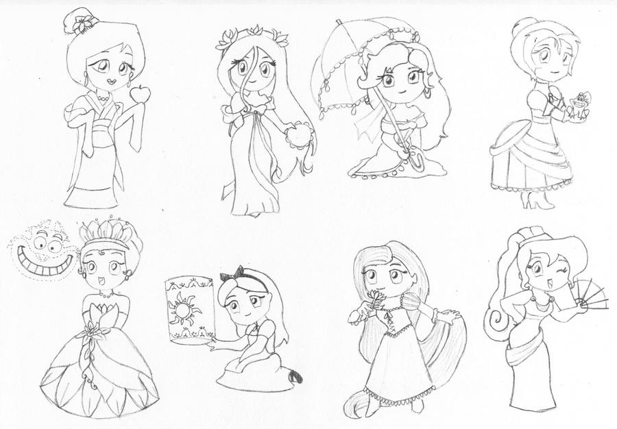 disney chibis coloring pages - photo#17