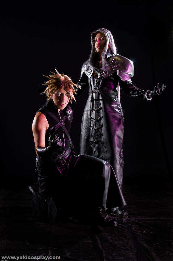 Sephiroth n Cloud in the dark by Yukilefay