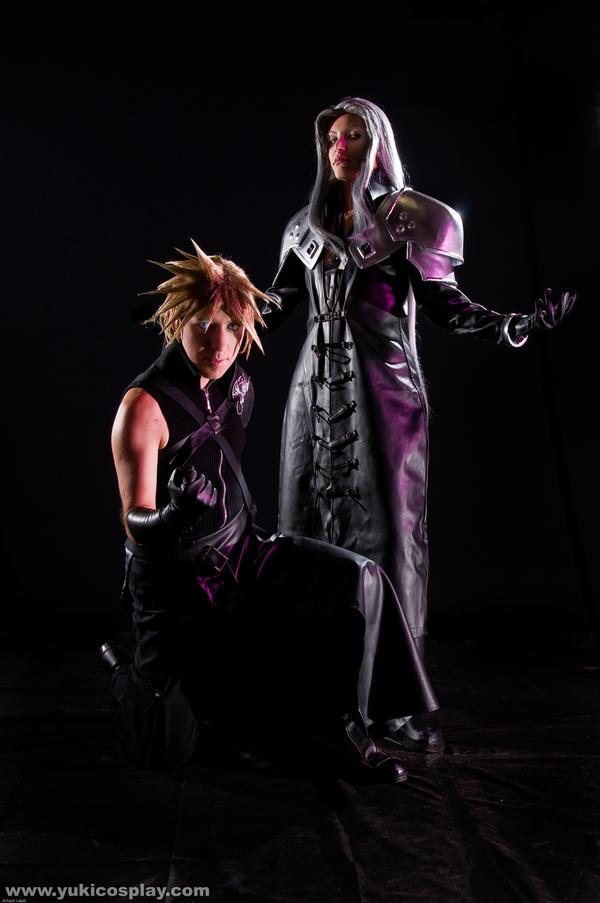 Sephiroth n Cloud in the dark by Yukilefay