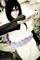 Orochimaru with a kunai by Yukilefay