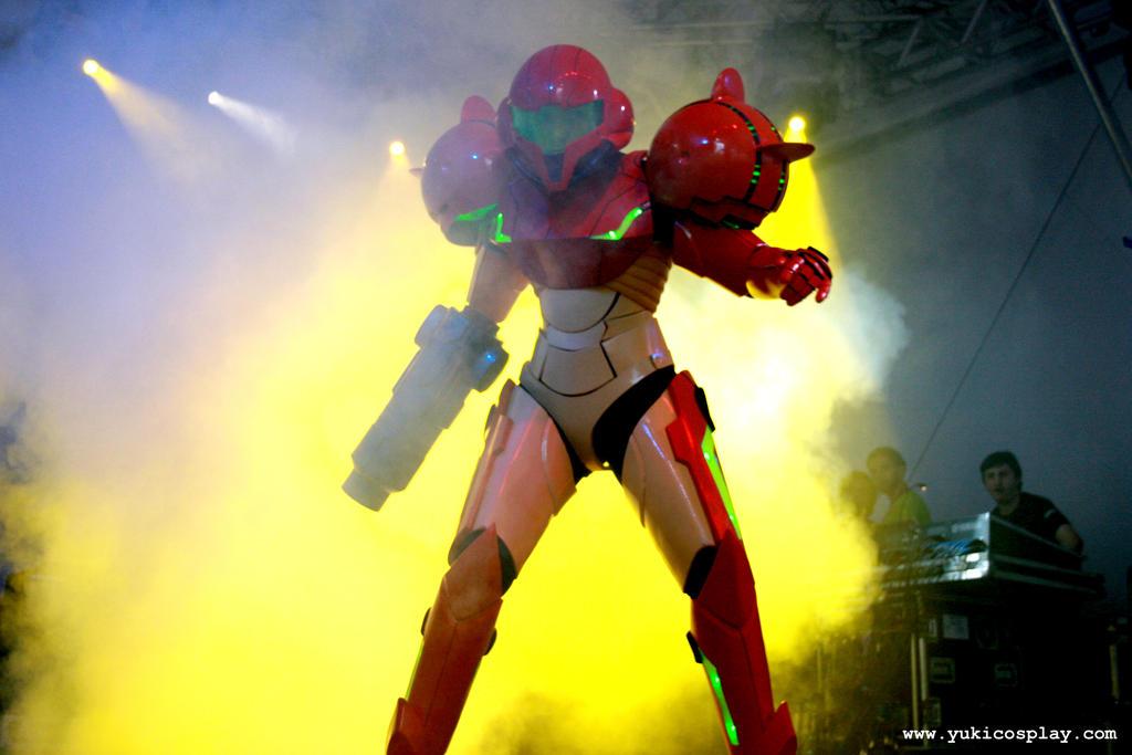 Metroid - Samus at stage by Yukilefay