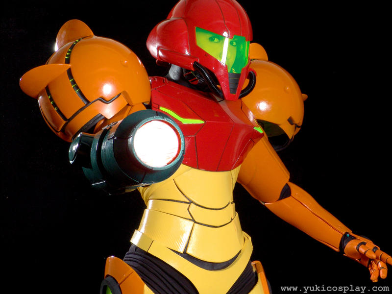Samus' blaster cannon by Yukilefay