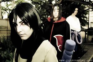 Orochimaru and Uchiha Brothers by Yukilefay