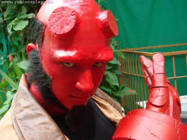 Hellboy makeup by Yukilefay