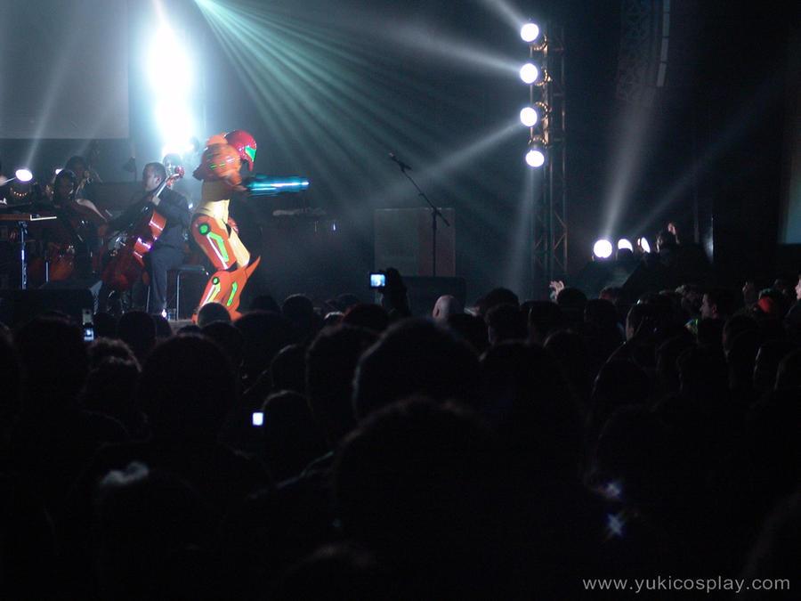 Samus at Video Games Live by Yukilefay
