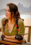 Lara Croft Cosplay - The Beach