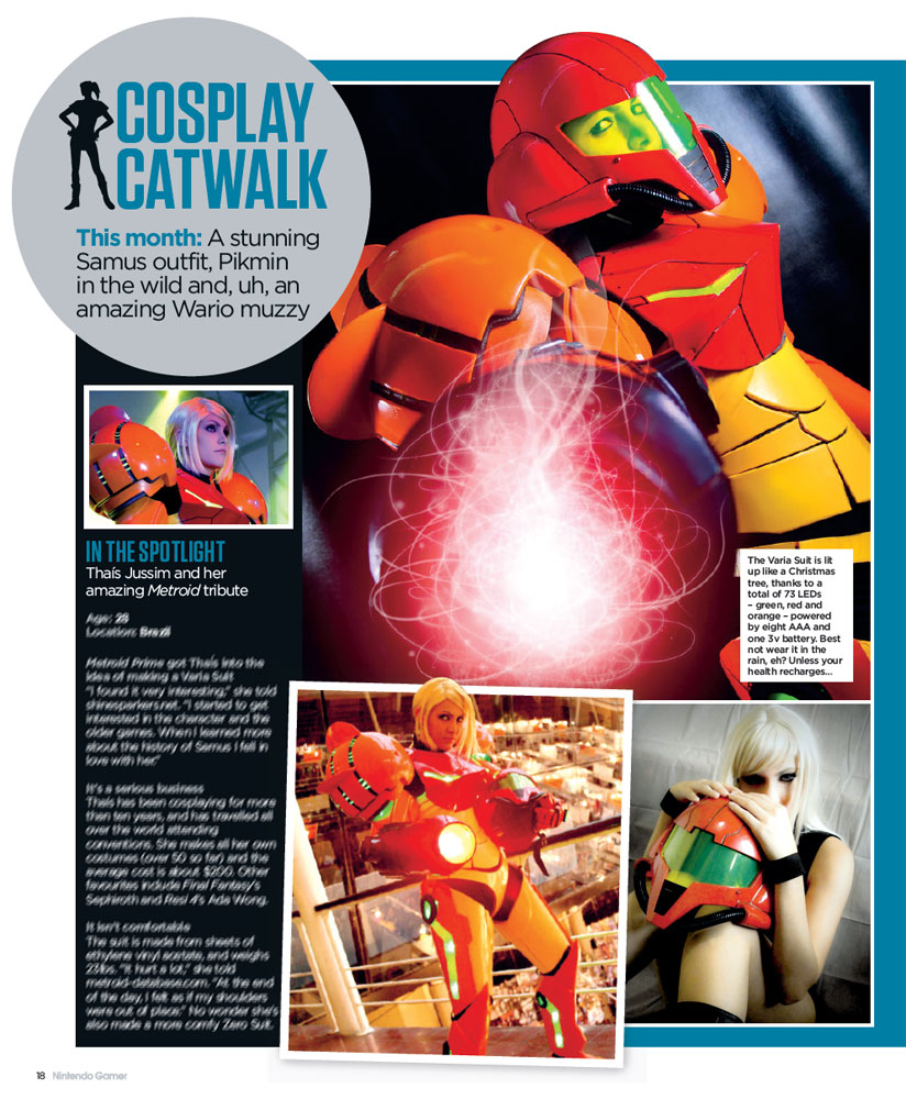 Nintendo Gamer Magazine - Samus Cosplay by Yukilefay