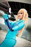 Samus at Galactic Federation HQ - Metroid Cos 2