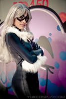 Black Cat Cosplay- Spiderman by Yukilefay