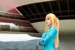 Samus at Galactic Federation HQ - Metroid Cosplay