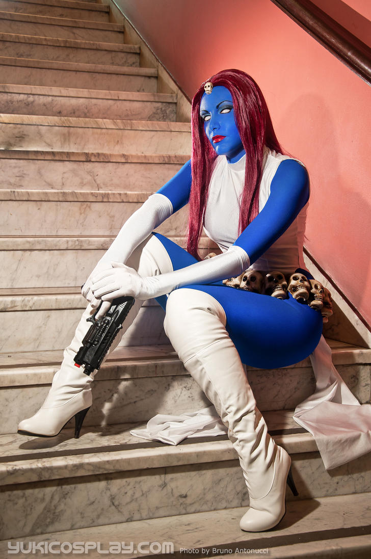Mystique at the stairs by Yukilefay