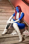 Mystique at the stairs