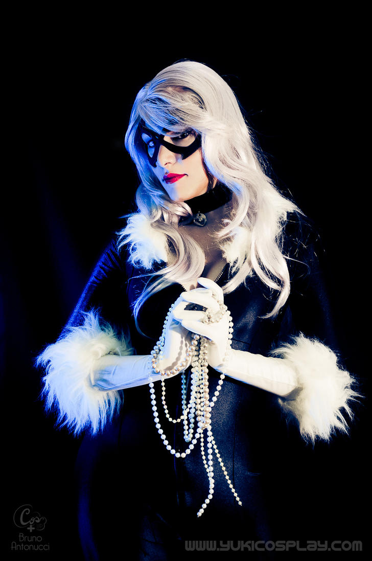 Black Cat - Pearls by Yukilefay