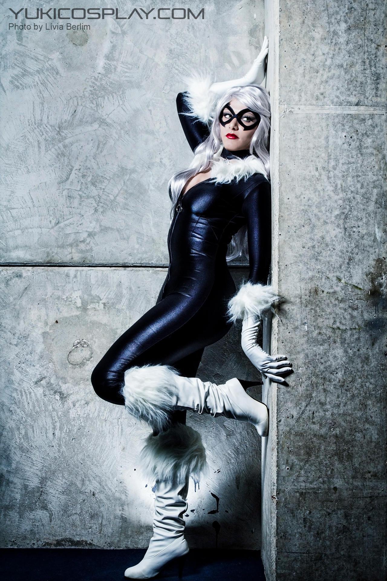black cat spiderman cosplay by yukilefay on deviantart