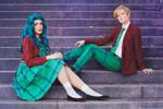 Sailor Moon Cosplay - Haruka + Michiru by Yukilefay