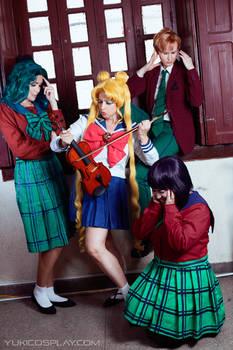 Sailor Moon cosplay - Usagi's rehearsal