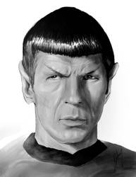 Leonard Nimoy as Spock by vampipe
