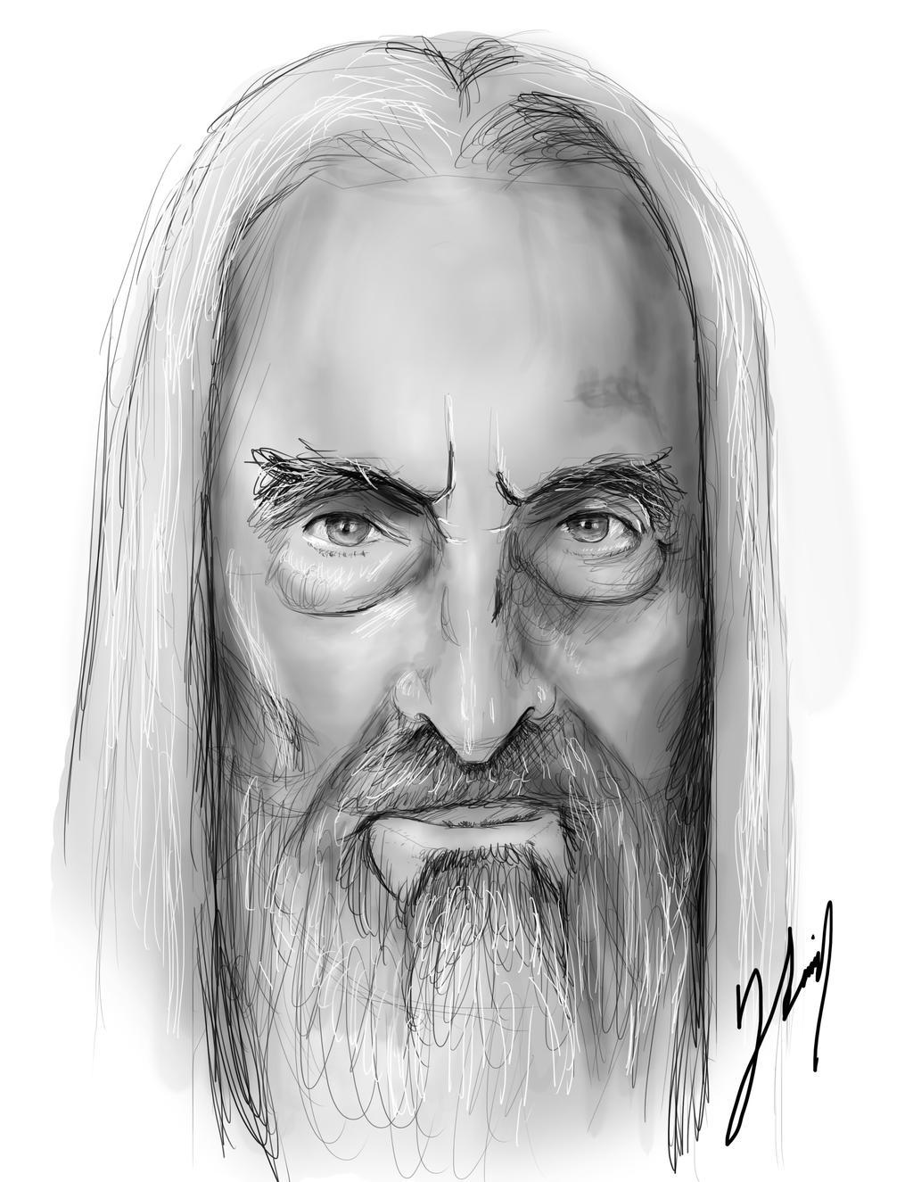 Saruman - Christopher Lee by vampipe