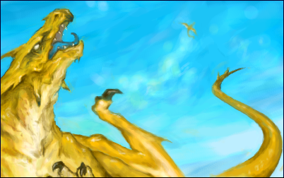 Kat's Dragon by Blargh