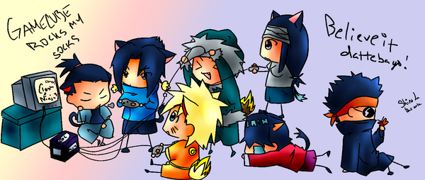 naruto Video Games colored by kanogt