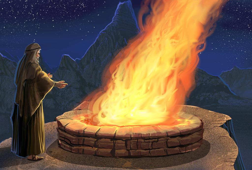 Elijah.lip Near Pit Fire by pyraker