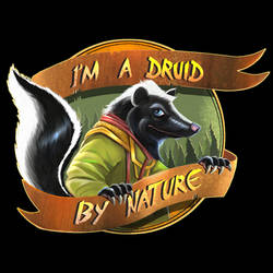 Skunk Stickers3c Bg Black
