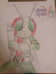 Kamen Rider V3 Drawing by Zackman92