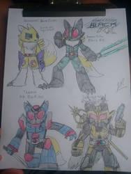 Renamon as Kamen Rider Black RX (plus other forms) by Zackman92