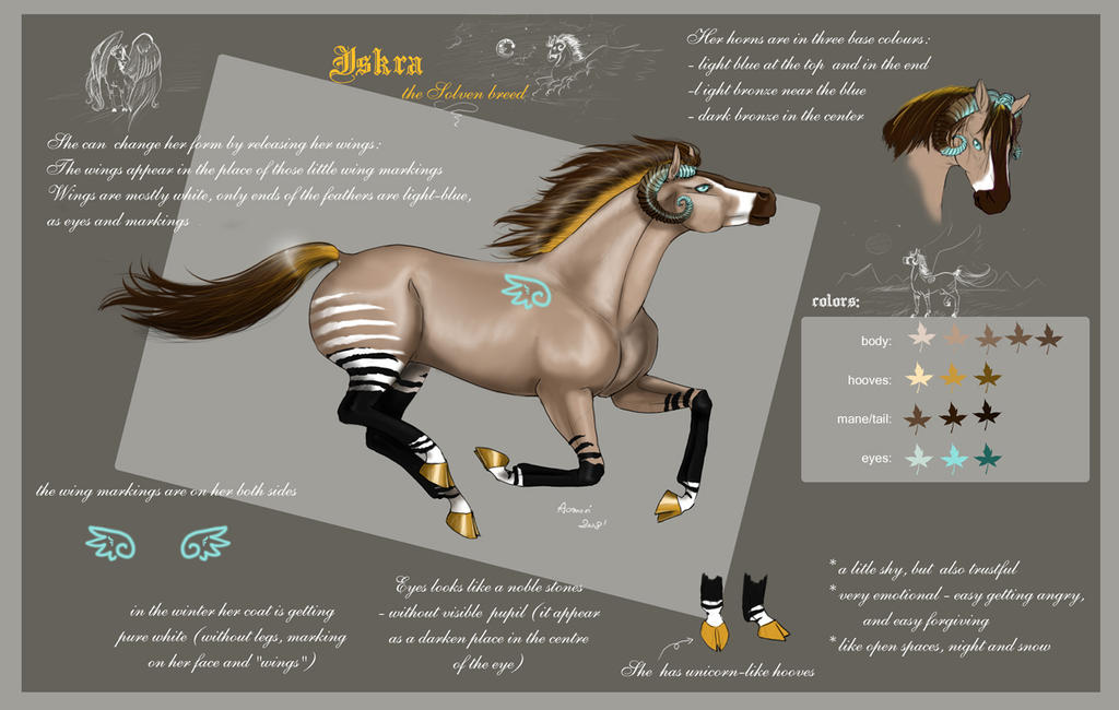 Iskra - character sheet by Aomori