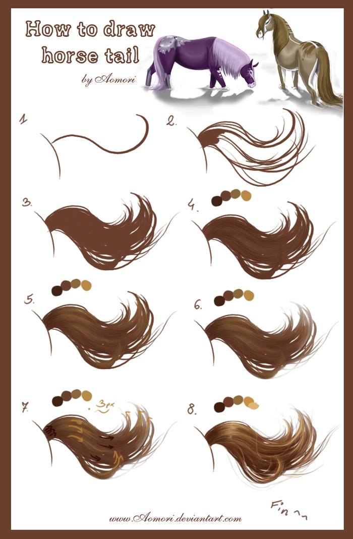 Tutorial Horse Tail By Aomori On Deviantart