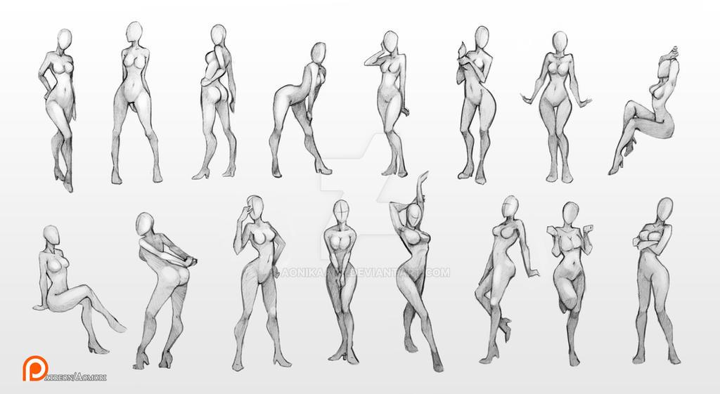 Female poses chart