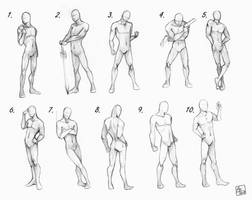 Male poses chart