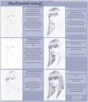 Pencil portrait tutorial by AonikaArt