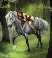 Linkphaer and Caleyndar by AonikaArt