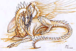 Sheoneth in gold sun by AonikaArt