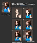 Selfportrait step by step