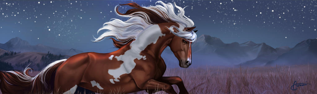 Mustang *night version* by Aomori