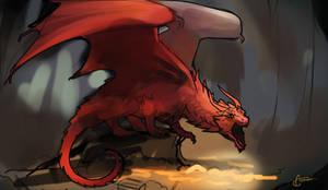 Dragon treasure sketch by AonikaArt