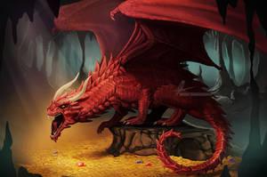 Dragon treasure by AonikaArt