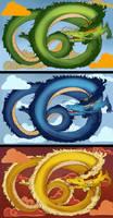 Chinese dragon designs